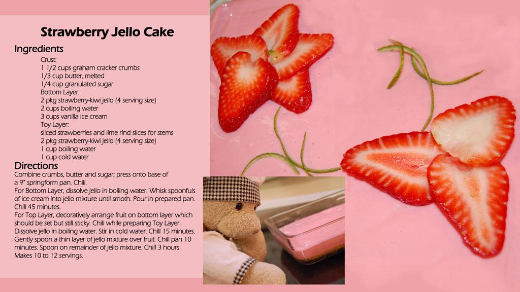 Recipe for strawberry jello cake